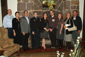 Above: Attending CHAD Board members and staff gather at the KLM Lodge, Hinsdale
